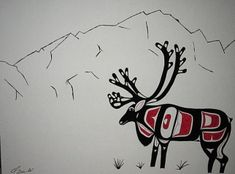 Metlakatla Art Gallery - Traditional Tsimshian/Haida Art Deer Skull Art, Native American Symbols, Haida Art, Hawaiian Art, Inuit Art, Southwest Art, American Indian Art, Indigenous Art, Aboriginal Art