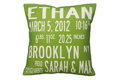 Birth 16x16 Pillow, Green on OneKingsLane.com