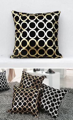 Gold pillow,Gold Cushion Cover, Geometric Pillow ,Holiday Decorative Pillow  Gold03 by gridastudio on Etsy https://www.etsy.com/listing/208673860/gold-pillowgold-cushion-cover-geometric