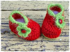 Crochet baby shoes Baby shoes Red shoes Newborn baby sandals  Knitted baby booties, Newborn booties,children gift
