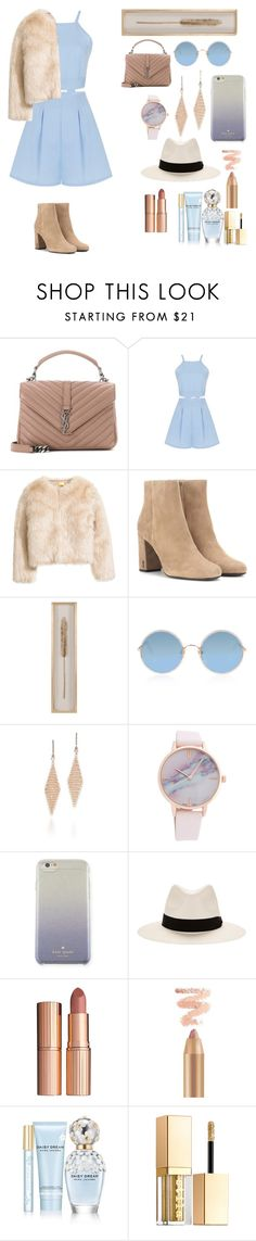 """""""Untitled #181"""" by anne-mary-c ❤ liked on Polyvore featuring Yves Saint Laurent, Sunday Somewhere, Tiffany & Co., Kate Spade, rag & bone, Charlotte Tilbury, Marc Jacobs and Stila"""