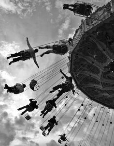 Swinging about in the air is so much fun to me. From Navy Pier to Boardwalk I always try to find swings to enjoy.