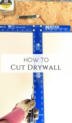 How to Cut Drywall |