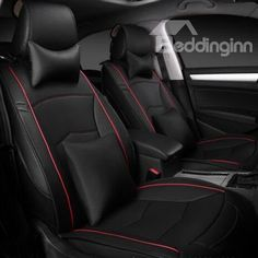 Classic black car seat covers, let your car into next level. Hot Selling Leather Material Universal #Car #Seat #Cover