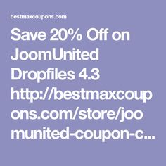 Save 20% Off on JoomUnited Dropfiles 4.3      http://bestmaxcoupons.com/store/joomunited-coupon-codes/