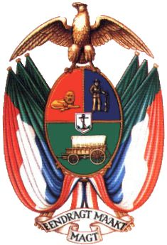 Coat of Arms of the Transvaal - South African Republic - Wikipedia, the free encyclopedia Union Of South Africa, South African Flag, African States, African Countries, Flags Of The World, My Heritage, African History, Educational Activities, History Facts