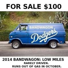 I truly love the Yankees and their pinstripes but have a soft spot for Dodger blue, and this is too funny!