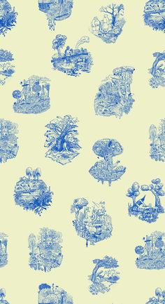 I enjoy unique toile. Textiles, Textile Patterns, Pattern Art, Pattern Design, Heart Illustration, Color Harmony, Love Wallpaper, Pretty Patterns, Illustrations