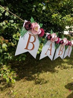 Personalized floral banner with burgundy flowers, Nursery name sign, Burgundy baby shower sign, Blush flowers, Shabby chic baby shower FLORAL PARTY DECOR Paper Flower Nursery Decor Floral Boho Baby Shower, Baby Shower Floral, Baby Shower Elegante, Baby Shower Backdrop, Baby Shower Flowers, Baby Shower Signs, Baby Shower Themes, Bridal Shower, Shower Ideas