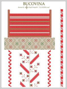 Semne Cusute: IA AIDOMA 040 - Bucovina, ROMANIA Simple Cross Stitch, Cross Stitch Borders, Cross Stitch Patterns, Folk Embroidery, Embroidery Patterns, Knitting Patterns, Beading Patterns, Handicraft, Sewing Projects