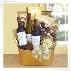 Golden Vineyard Gourmet Gift Basket