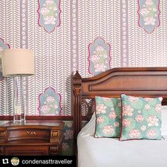 """#Repost from @condenasttraveller ・・・ """"Who wouldn't want to wake up here?"""" The Yuvraj Suite at Rajmahal Palace, Jaipur #Palace #Interiordesign #Prettyinpink #India #Jaipur @relaischateaux #RajmahalPalace #Sujanluxury #Jaipur #RoyalRajasthan #RelaisChateaux #BoutiqueHotel #DesignHotel"""