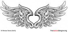 Angel wings tattoo design