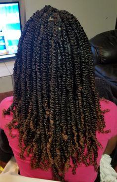 Faux Locs Hairstyles, Twist Braid Hairstyles, Twist Braids, Spring Twist Hair, Spring Twists, Crochet Hair Styles, Crochet Braids, Medium Hair Styles, Natural Hair Styles