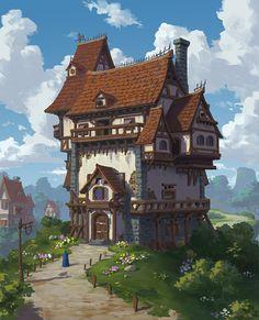 ArtStation - A house, Xiaosheng Bai