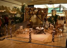 The live nativity positioned in the middle of the cultural hall, Simi Valley, California, December 2012.
