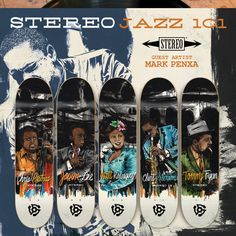 Street Skate Kings: Stereo Skateboards Jazz 101 Skateboarding Decks by Mark Penxa