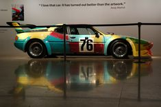 """BMW M1. Carro arte. 1979. Pintado por Andy Warhol (Pittsburgh, PA, USA, 06/08/1928 - 22/02/1987, Nova York, NY, USA). Em exposição na BMW Art Cars. """"Eu amo esse carro. Tornou-se  melhor do que a obra de arte."""" - Andy Warhol.  Fotografia: Nik Azwaa Azmi."""