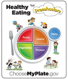 MyPlate for Preschoolers :D  Fun way to teach children how to eat healthy!    #Extension #UF #USDA #Health