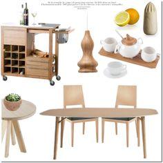 Wood Pieces by lovethesign-eu on Polyvore featuring interior, interiors, interior design, Casa, home decor, interior decorating, Atipico, Metalmobil, Ex.t and Brandani