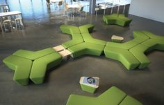 Q5 benches and tables from Davis Furniture
