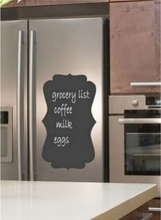 It's easy to get stuck on this DIY Magnetic Chalkboard for your fridge (from Drama Queen Seams)