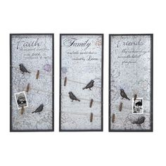 Woodland Imports 3 Piece Assorted Wall Décor Set