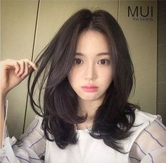 New Haircut Medium Asian Thin Hair Ideas Medium Hair Cuts, Medium Hair Styles, Curly Hair Styles, Curly Asian Hair, Medium Layered Hair, Mid Length Hair, Shoulder Length Hair, Korean Hairstyle Medium Shoulder Length, Asian Hair Medium Length