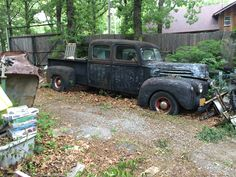 '47 Ford old customized 4 door pick up, very cool.