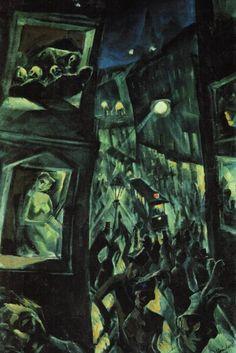 Jakob Steinhardt, The City. 1913. German expressionism.