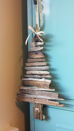 Driftwood Christmas Tree Craft. £10 message for details