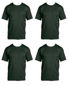 Sizes Fruit of the Loom Men/'s Pocket T-Shirts 5-Pack Assorted Colors M-XL
