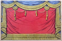 Juguete antiguo papel escenario alrededor del año 1896-1906  Imagerie Pellerin Épinal papel gran teatro Nouveau  Imagerie Épinal-No 1578  Rideau  Este es un original litografia pochoir. No una reproducción.   En 1796, Jean Charles Pellerin tenía la Imagerie Épinal y popularizado imágenes de escenas cotidianas. Sin embargo, hojas de Pellerin, igual que el resto de sus productos, se pretende recortar y pegadas en cartulina. Las colecciones de teatro consisten en coloreadas Láminas…