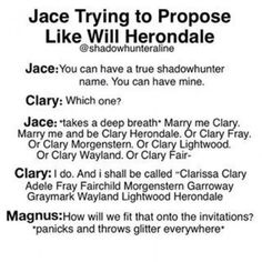 jace and will herondale meet fanfiction Clary Und Jace, Alec And Jace, Clary Fray, Shadowhunters Malec, Shadowhunters The Mortal Instruments, Clace, Mortal Instruments Memes, Immortal Instruments, Book Tv