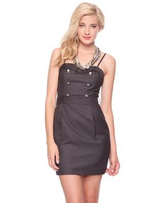 military style dress love it