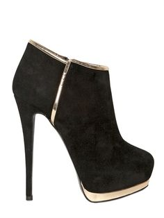 d25742bd3f601 GIUSEPPE ZANOTTI - 140MM SUEDE METAL LOW BOOTS - LUISAVIAROMA Automne-Hiver  2012 Chaussure,