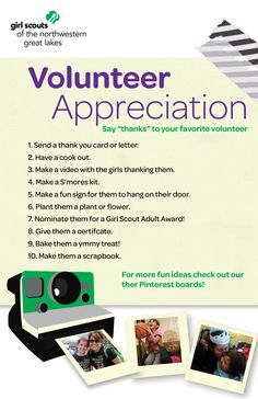 Ideas for a special volunteer.