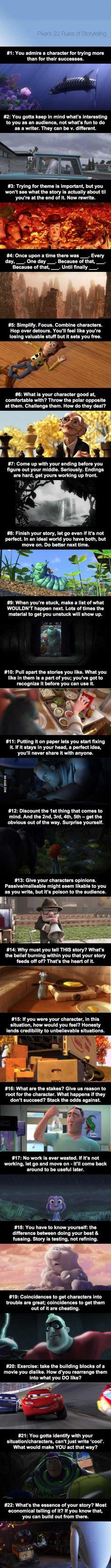 Pixar's 22 Rules of Storytelling (not reallu disney but i dont have a pixar folder)