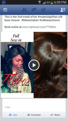 Sew in , with closure Weave Hairstyles, Girl Hairstyles, Sew In With Closure, Full Sew In, Hair Care Tips, Bad Hair Day, About Hair, Curly Hair Styles, Weaving