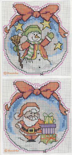 Santa & Snowmen, plastic canvas, chart, page 3/3