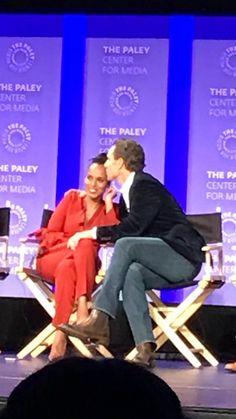 Tony Goldwyn and Kerry Washington at the PALEYFEST 2017