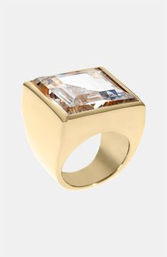 Michael Kors Cocktail Party Square Crystal Ring