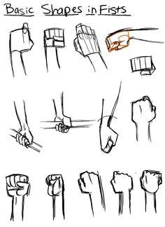Cartoon fist, cartoon body, hand pose, drawing people, how to draw fist Drawing Fist, Comic Drawing, Drawing Skills, Manga Drawing, Drawing Techniques, Drawing Tutorials, Cartoon Drawings, Drawing Ideas, Drawing Hands