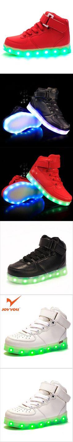 JOYYOU Brand USB Children Boys Girls Glowing Luminous Sneakers With Light Up Led Teenage Kids Shoes illuminate School Footwear