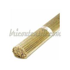 Bacchetta da 3,5 mm di ottone per saldare. Ottone al silicio per la saldobrasatura dell'ottone, bronzo, rame e ferro. Si usa con un disossidante.
