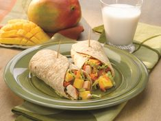 Sweet and juicy ripe mangos are the perfect balance for the savory ingredients in this Asian wrap. Dinner's ready in 30 minutes, or make ahead for a tasty portable lunch.