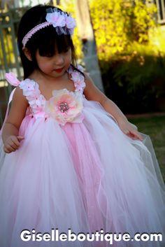 Flower girl dress Pale Pink Princess Tutu Dress. baby tutu dress, toddler tutu dress, wedding, birthday, Newborn, 2t,3t,4t,5t