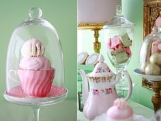 Love the cupcake stand with a teacup