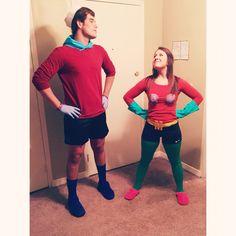 couple costume! Mermaid man and Barnacle boy! me and my boyfriend!