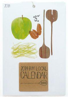 2014 Buy Local Calendar by claudiagpearson on Etsy, $24.00